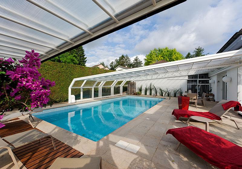Abri de piscine haut-Aqua piscine